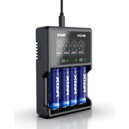 Xtar VC4S - Li-Ion, NiMH Akkumulátor Töltő
