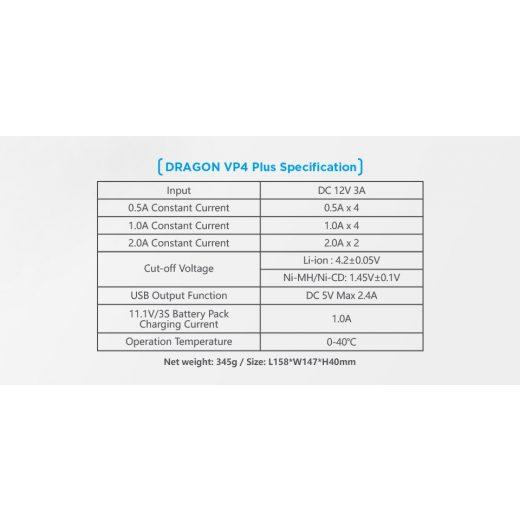 Xtar VP4 Plus Dragon Li-Ion / Ni-MH akkumulátor töltő
